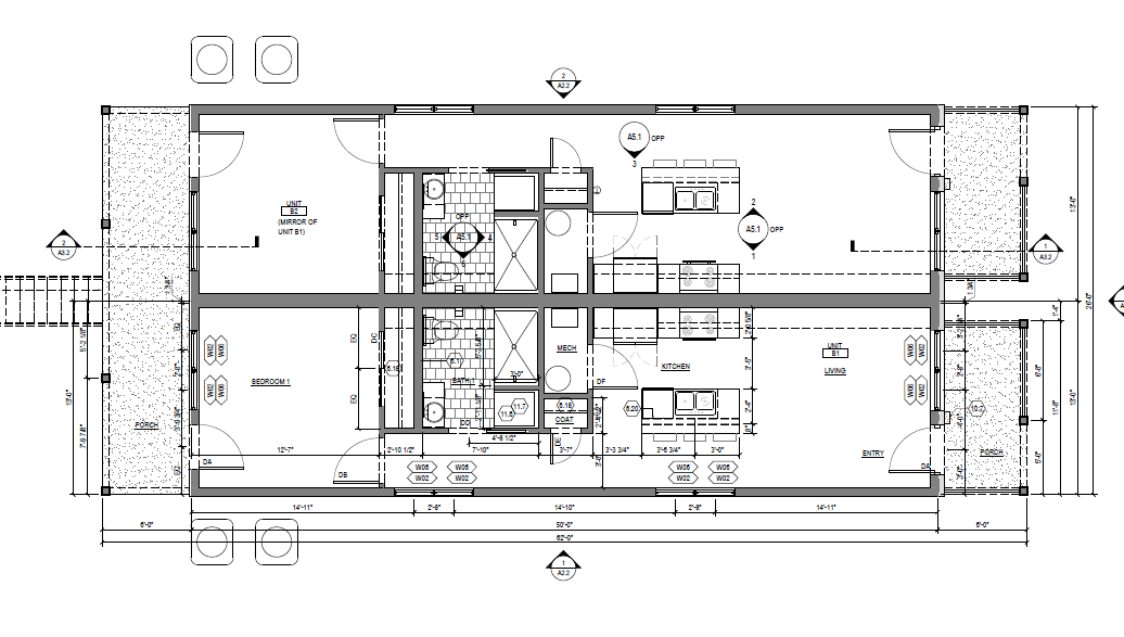 1 bed townhouse Floor Plan