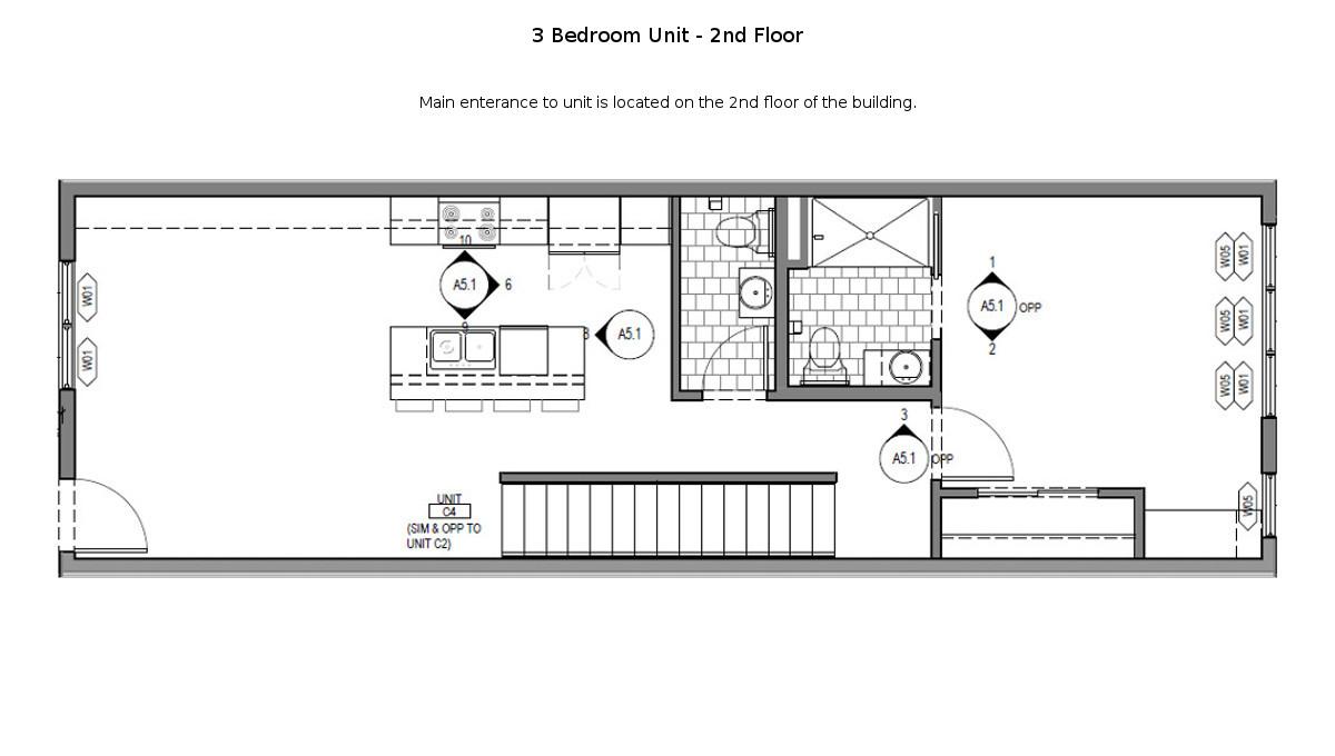 3 Bed Martin Townhouse Floor Plan - 2nd Floor