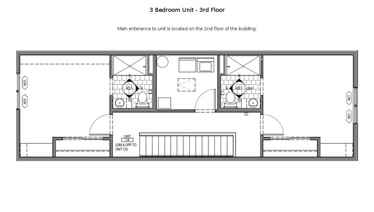 3 Bed Martin Townhouse Floor Plan - 3rd Floor