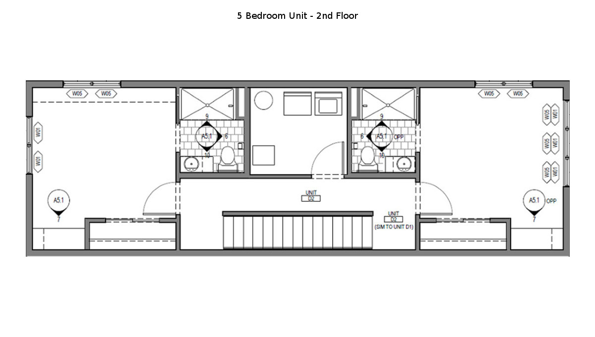 5 Bed Martin Townhouse Floor Plan - 2nd Floor