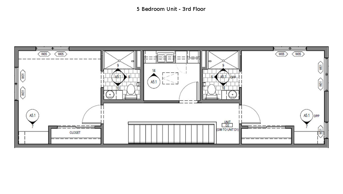 5 Bed Martin Townhouse Floor Plan - 3rd Floor